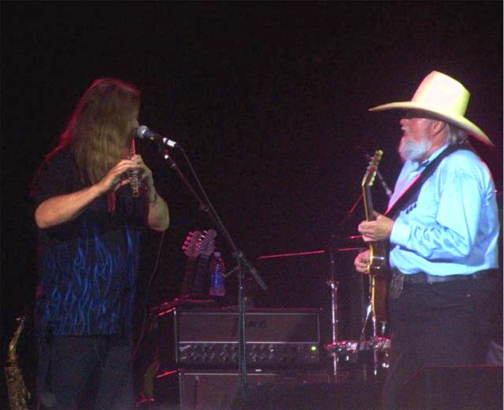 Onstage with Charlie Daniels
