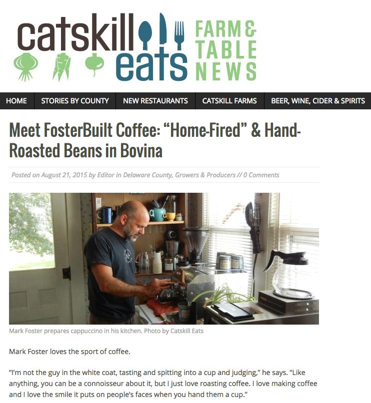 catskill eats fosterbuilt coffee