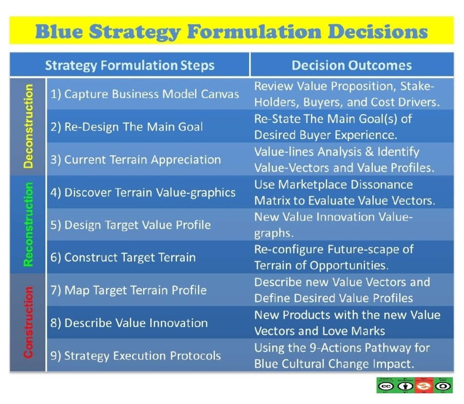 Blue Strategy Formulation Decisions