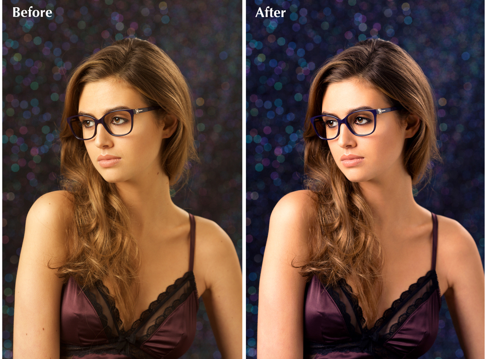 Fashion retouching before/after