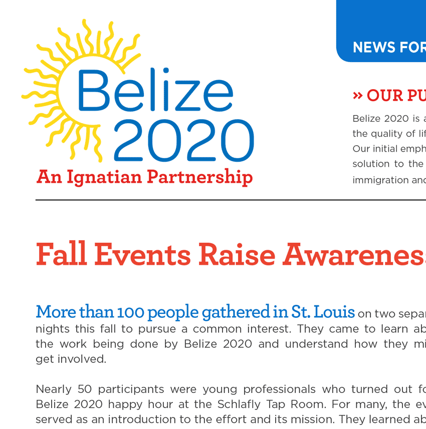 Download Belize 2020 Newsletter