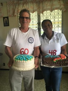 Fr. Matt and Claret Jacobs celebrate their November birthdays with sweet treats.