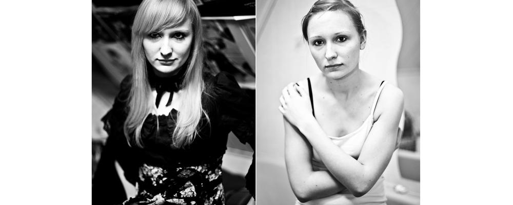 Tweeluik portret lolita anorexia zwart-wit kwetsbaar Eindhoven