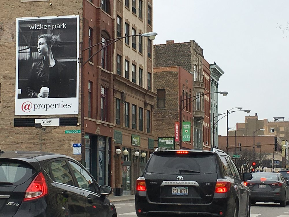 Less is More (this bears repeating)  - Again, smart brands like @ Properties demonstrate their understanding of the use of the medium: connect with your audience, keep it simple (and cool) on the the streets of Wicker Park.