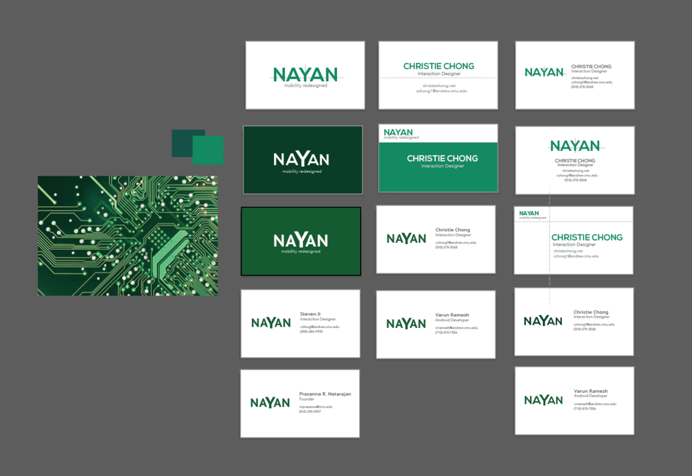 Business card iterations