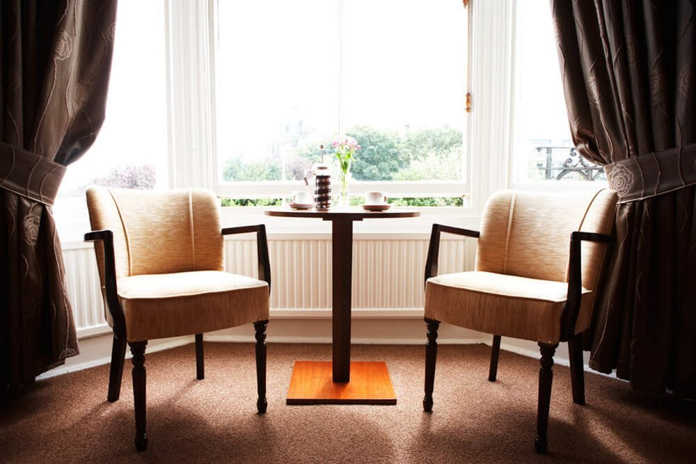Copy of A bedroom's seating area in the Red Lea Hotel, Scarborough