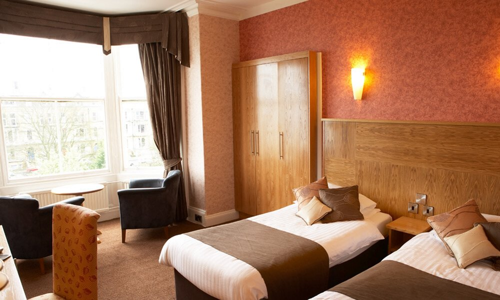 Copy of Twin room at the Red Lea Hotel, Scarborough