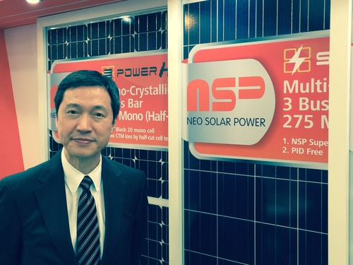 Neo Solar Power's President Andy Shen