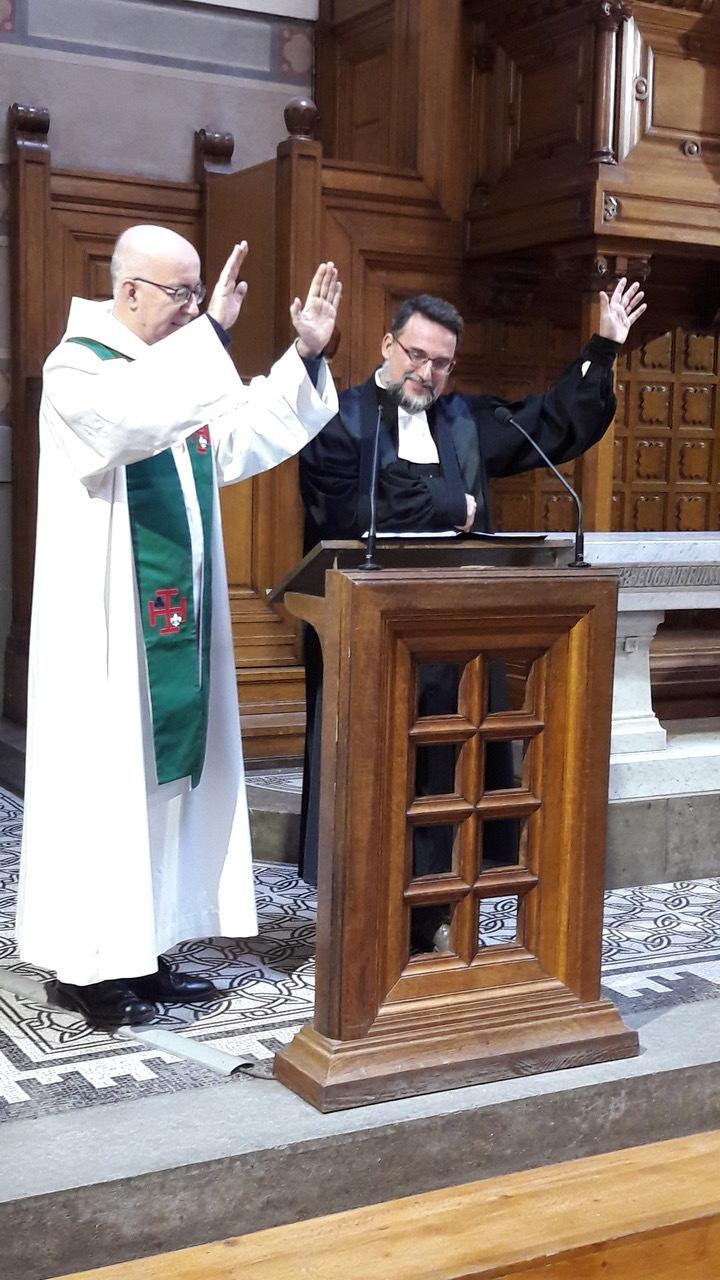 Bénédiction avec le pasteur Pierre Blanzat