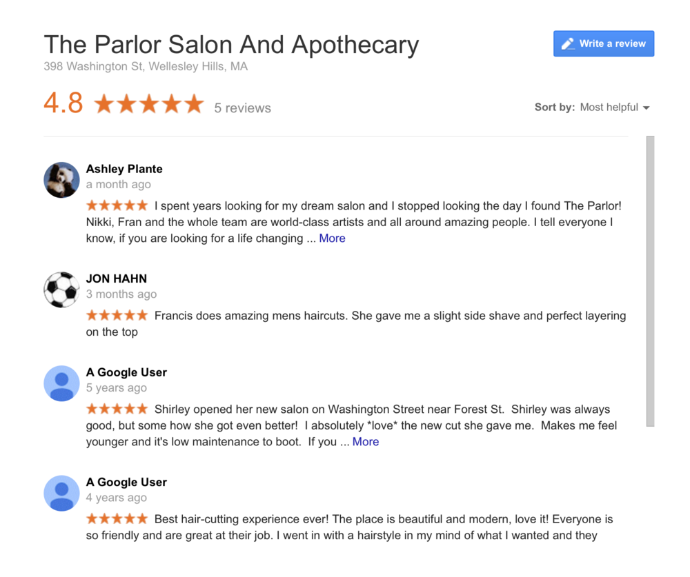 Review us on google +