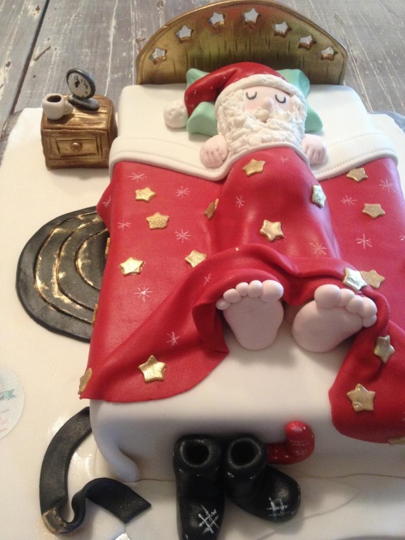 Pastel Santa clos
