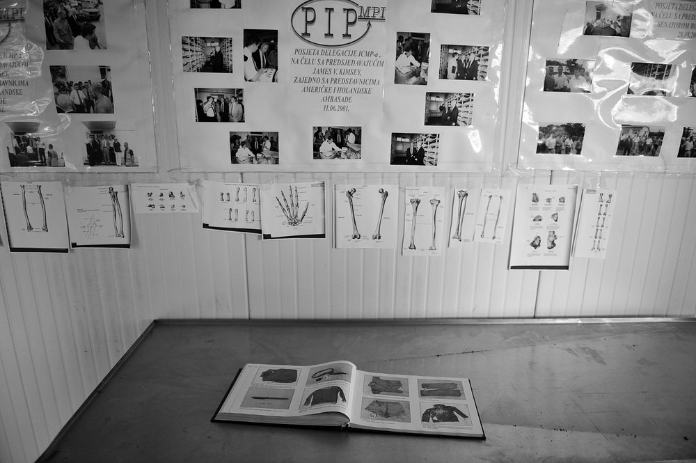Identication book of victims remains at the ICMP facility in Tuzla, Bosnia and Herzegovina.
