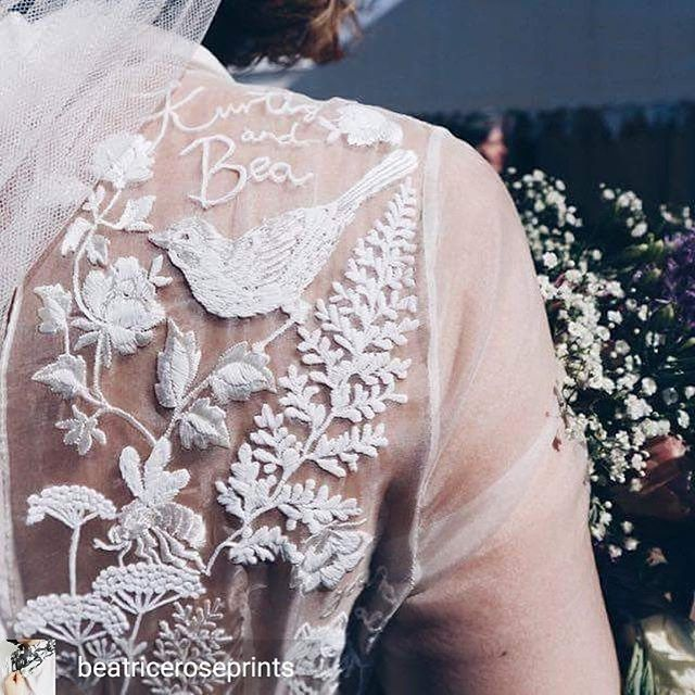 #Repost @weddinghelperuk ・・・ When you get your own illustrations embroidered into your @danadallalbridal wedding dress. This is such a beautiful & personal touch @beatriceroseprints 💕 . #weddingdress #illustration #embroidery #creativetouches #bride #ido #weddinginspiration