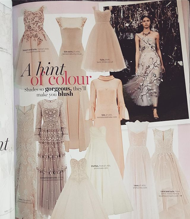 And there she is! Our Ipomea smack bang in the centre of the Nov/Dec issue of @bridesmagazine . . . . . #weddingdress #weddingmagazine #bridal #bohobride #boho #wedding #coolbride #bride #weddinggown #pink #pinkweddingdress