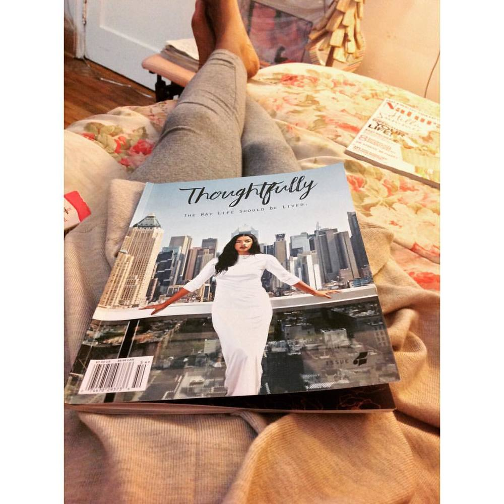 Night time reading. #thoughtfully #magazine #spirit #health #mindfulness #freespirit #shewolf @hannahbronfman @thoughtfullymagazine