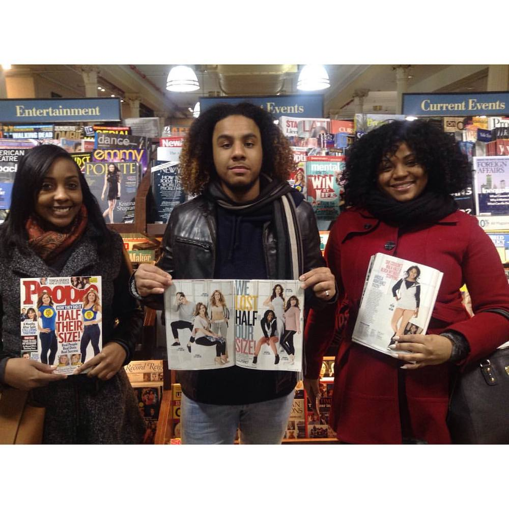 And then there was that time that I forced them to do this, lol. The staff member who helped me find the Mag said the photo didn't even look like me. Hold on homey, I'm supposed to be supermodel ready in Barnes & Noble? I got the memo too late. #barnesandnoble #peoplemagazine #halftheirsize #nyc #unionsquare #familytime Go Get It.