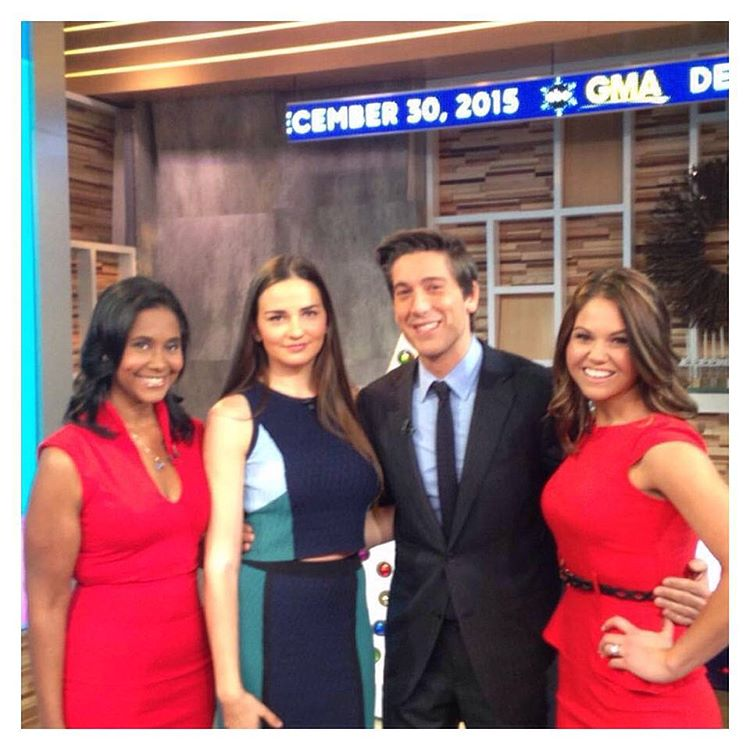 Me, Charlotte, and Sarah on set at GMA. Was a long day and a quick segment that inspired so many. Great job! #peoplemagazine #halftheirsize #GoodMorningAmerica #GMA #weightloss #weightlossjourney #RedDressApproved #TimesSquare #happynewyear @sarah_beasley_fitness @charloshka