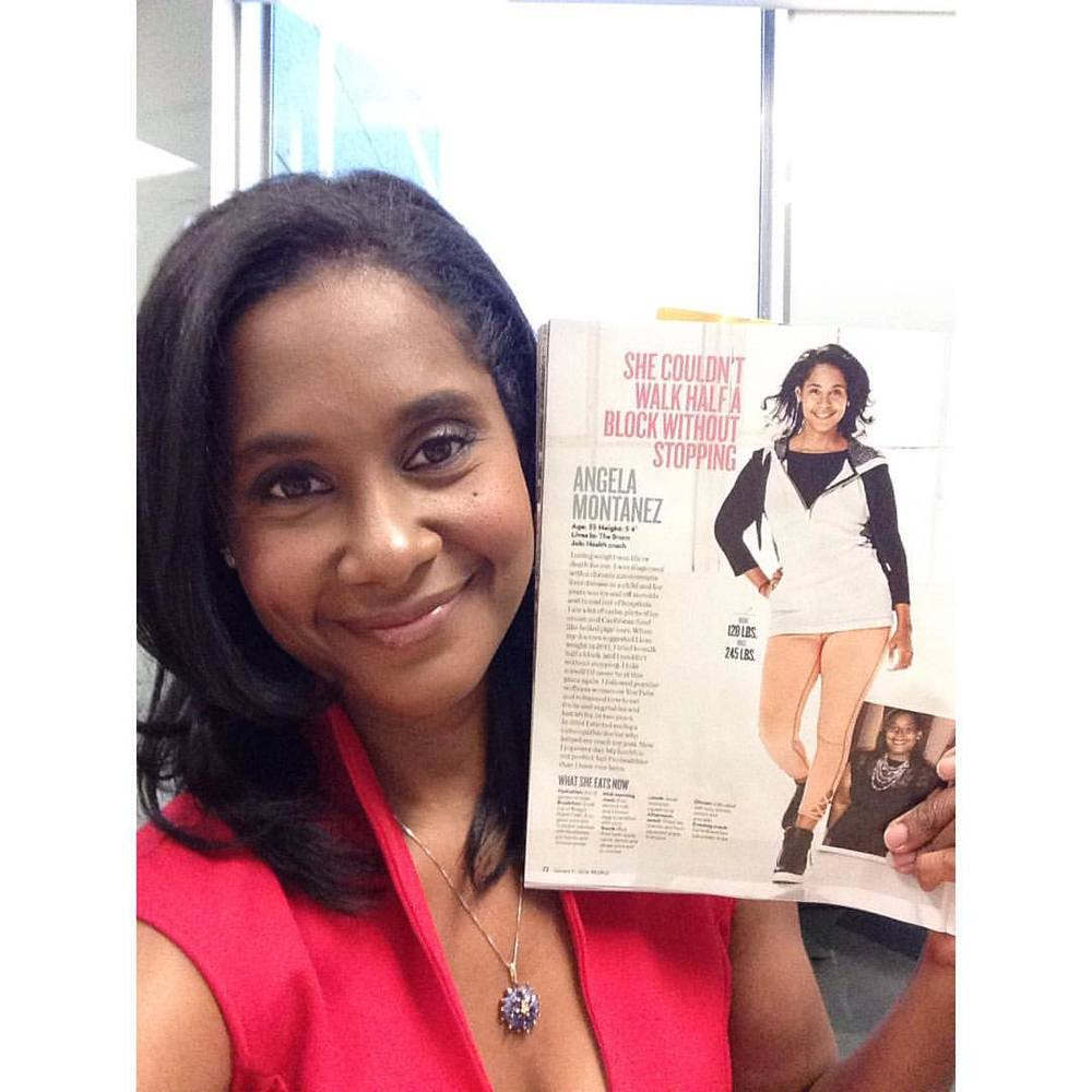 Inside of the issue page 72. That's me! #peoplemagazine #halftheirsize (at People Magazine HQ)