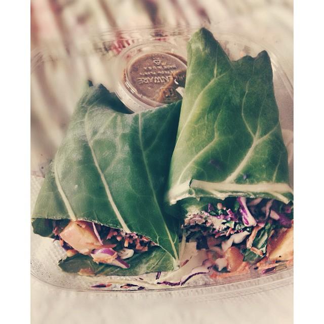 thecitruslife: #ThaiCollardWrap #OrganicAvenue #EatNaturally #thecitruslife My love affair with these wraps were epic.