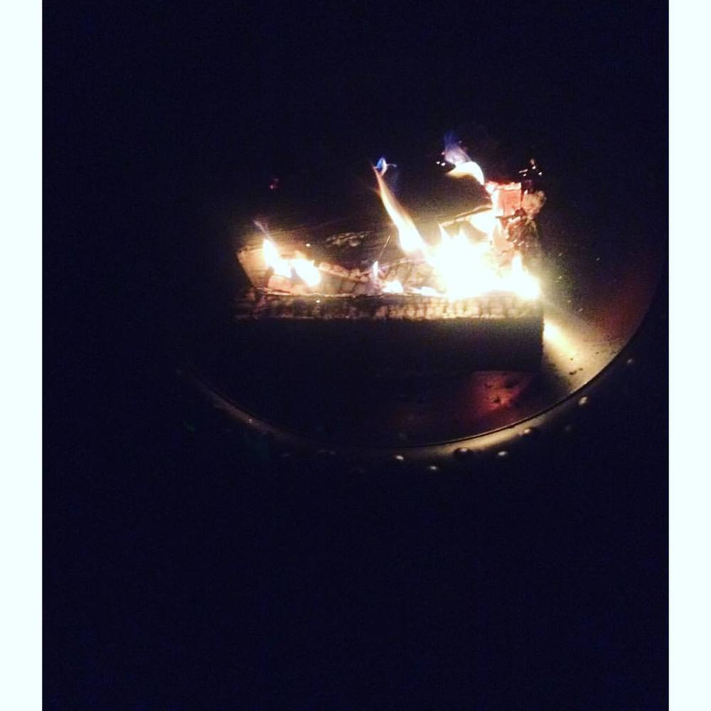 Ushering in #Autumn on this cool #IndianSummer night. S'mores and all.