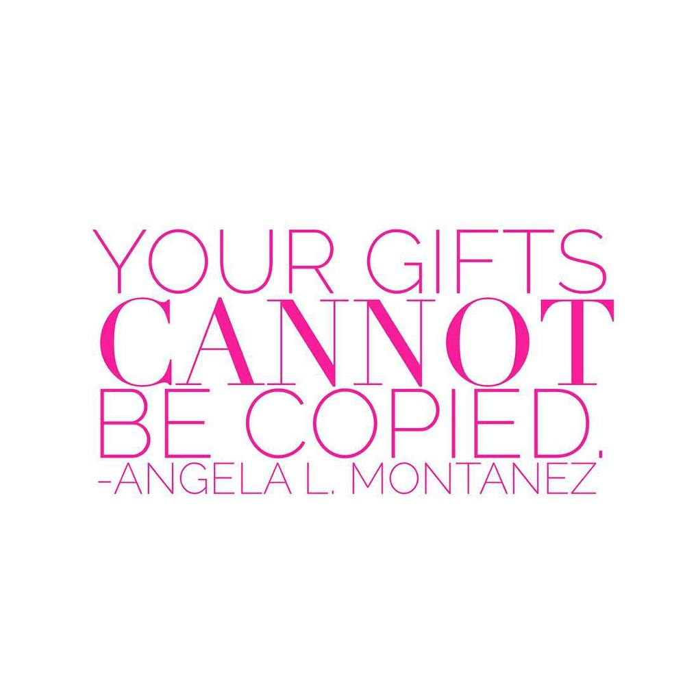 Your gifts cannot be copied. #realtalk #shewolves #gifts