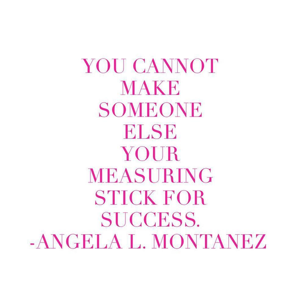 You cannot make someone else your measuring stick for success. #SheWolfCoaching #shewolf #mindset #SpiritOfTheWolf
