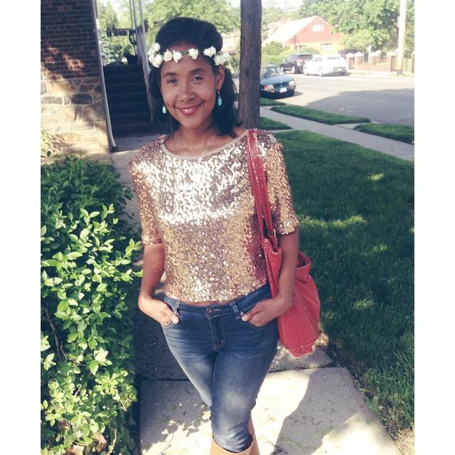 Birthday outfit! #happybirthday #livehappily #Love #materialgirl #top #icing #headband #maccosmetics #lipstick