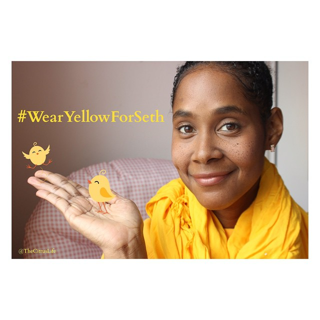 I'm with you little buddy. #wearyellowforseth #nyc #LiveEatConnect #ConnectSpiritually