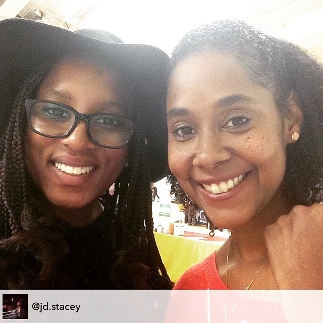It was a divine encounter–ushered by her grandma–that reconnected us at the New York Vegetarian Food Festival. Was so great seeing you again girly! @jd.stacey #NYCVFF #Boutblowbar #ConnectSpiritually #TheCitrusLife