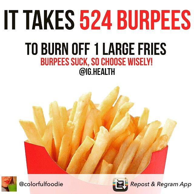 #McDonalds #fries #burpees #fitness #choosewisely #thecitruslife @colorfulfoodie