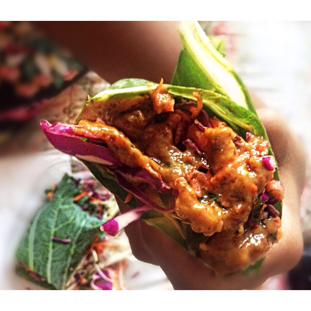 #OrganicAvenue #ThaiCollardWrap #EatNaturally #thecitruslife