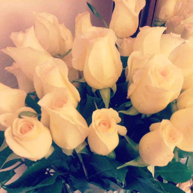 A gift to myself. #livehappily #white #roses #love
