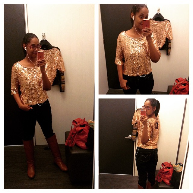 After my doctor pissed me off, I indulged in retail therapy. #retailtherapy #MaterialGirl Sequin Top at #Macys #livehappily
