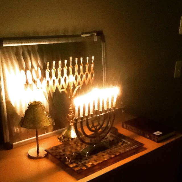 My dad sent me photos of his #menorah everyday for 8 days and I thought it was the sweetest thing ever. #HappyHanukkah #Chanukah #connectspiritually #thecitruslife #livehappily