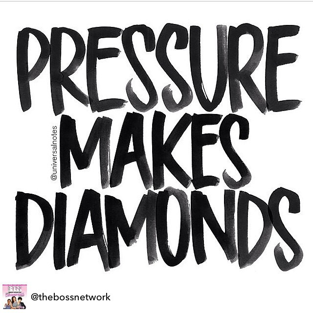 Pressure makes diamonds.