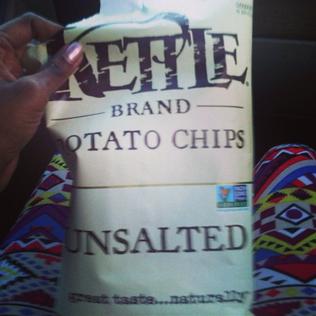 My major snack addiction. #snack #chips #kettlebrand #unsalted #LiveHappily