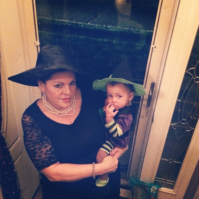 Glamma and Minas. Love their #witch costumes. #HappyHalloween #Halloween #livehappily