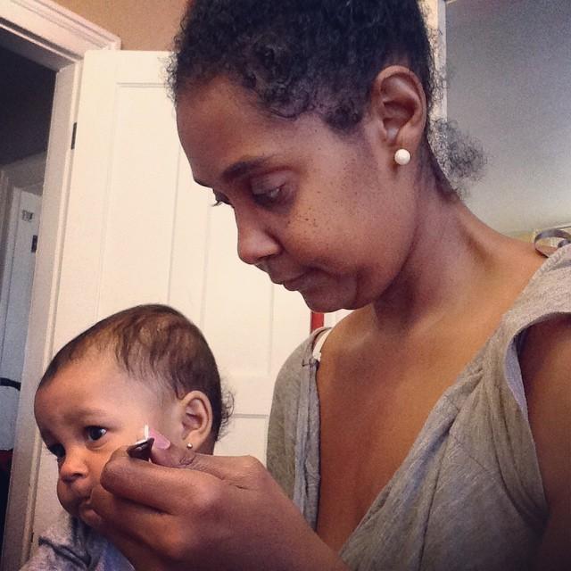 Feeding time. Exhausted Aunty. #mornings #babylife #baby #babytime #livehappily #sleep #mycitruslife