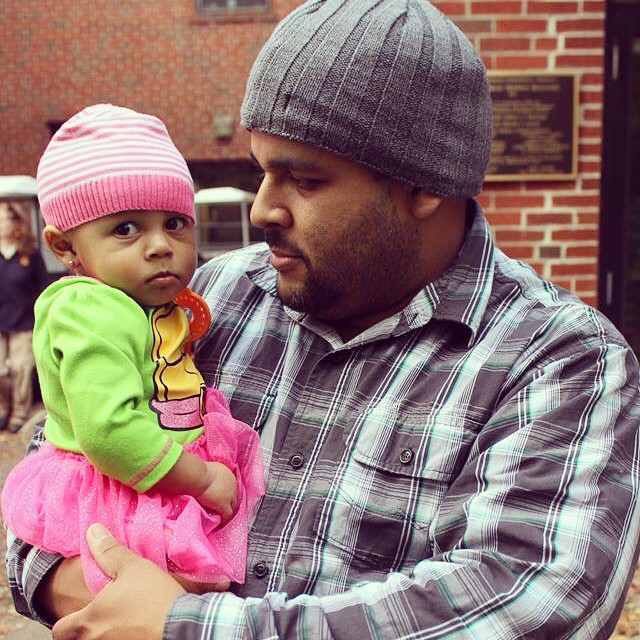 Daddy and Mina at #BooAtTheZoo She is not too happy, lol. #BeardsleyZoo #Connecticut #family #familytime #baby #babytime #Halloween #HappyHalloween #livehappily