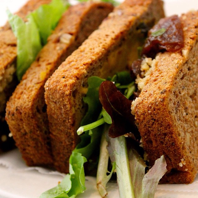 I love love love this sandwich from Peace Foods in NYC: Roasted Japanese Pumpkin sandwich made with mashed and seasoned pumpkin, ground walnuts, cashew cream cheese, and mixed greens. The flavors send me to another tasty level. #eatnaturally #pumpkin #japanesepumpkin #walnuts #cashews #cashewcreamcheese #mixedgreens #greens #PeaceFoods #PeaceFoodsCafe #livehappily #NewYork #NYC
