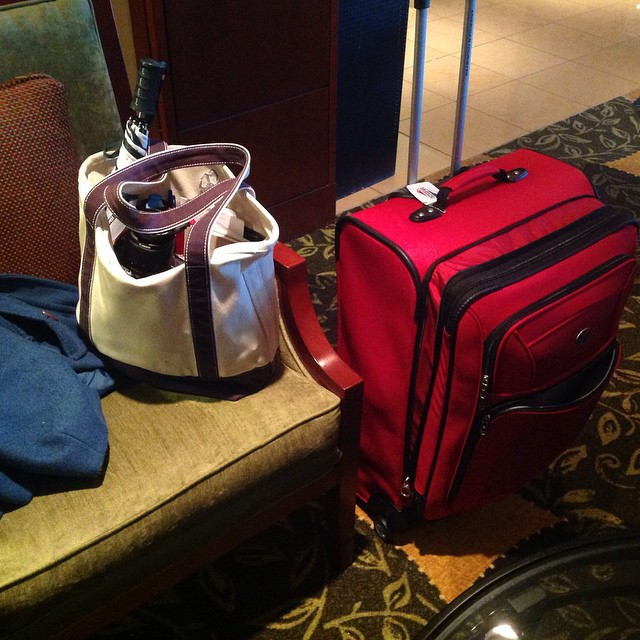 Luggage…..ugh! So heavy. Unpacking it is the worst but that definitely depends where you are unpacking it at. Au Revoir Russell Sage. #RussellSageCollege #Hilton #livehappily #thecitruslife #NewYork #luggage #Travel