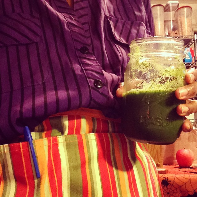 2nd green juice of the day. Getting full. #greenjuice #greenchard #greenapples #galaapples #dandeliongreens #Kale #parsley #ginger #lemon #swisschard #cucumber #celery #eatnaturally #livehappily #TheBruceBanner #thecitruslife #LShanahTova #RoshHashanah #2014