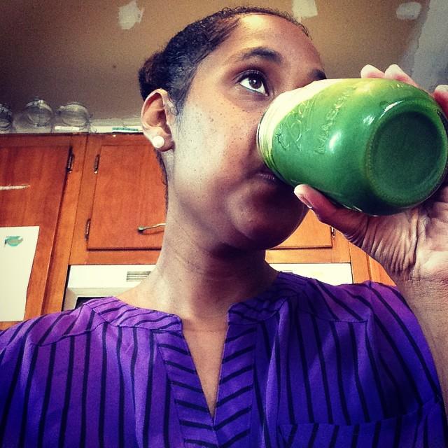 Feels like I'm finally getting my balance back. #greenjuice #eatnaturally #livehappily #thecitruslife #TheBruceBanner