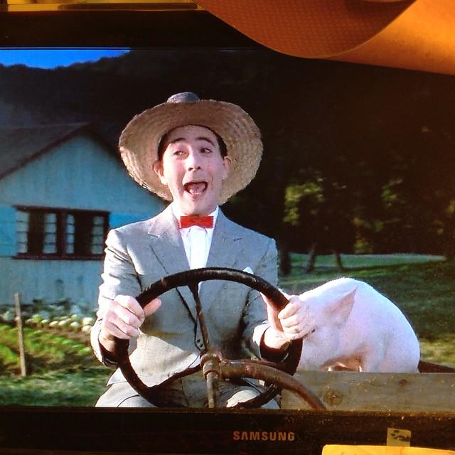 He's a mess. Lol. #80sbaby #peeweeherman #bigtoppeewee #livehappily #unwind #bedtime #thecitruslife