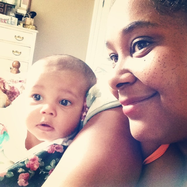 "Calm morning selfie with my ""Mina's"" before Barney. #selfie #goodmorning #morning #baby #babylife #livehappily #barney #thecitruslife"