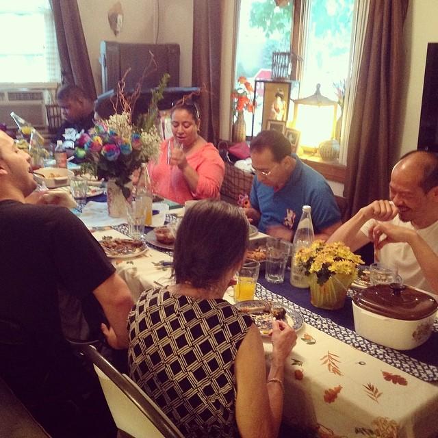 Family dinner table #mondaynightdinner #familytime #family #familydinner #livehappily #thecitruslife