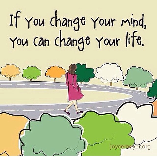 If you change your mind, you can change your life. Repost from @angelasimmons via @igrepost_app, Love this ! @joycemeyer