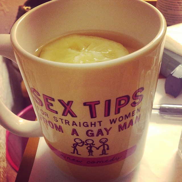 Struggling with a bout of #candida from a steroid inhaler. Grrr. Drinking tea with #lemon and #Braggs #AppleCiderVinegar out of my favorite @sextipsplay mug Glad I watched @rachelswellness youtube video this evening and I am going to add some coconut oil to this regimen. Thank God cause my mouth was becoming sore from all the extra garlic I was consuming to aid in combating the excess symptoms. #eatnaturally #keepitfresh #joinmeonmyjourney