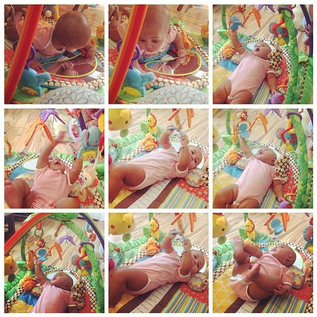 It's that #GymLife bitches. #baby #babytime #tummytime #BabyFitness