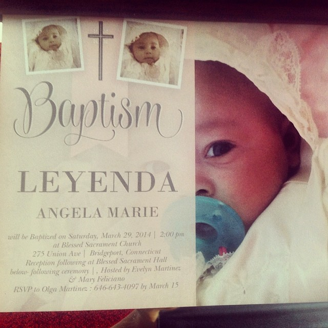 My whittle mush is getting baptized. She's my everything and the best baby I never had to deliver, lol. #livehappily #baptism #baby #7months #CT #twinAunty #twinning